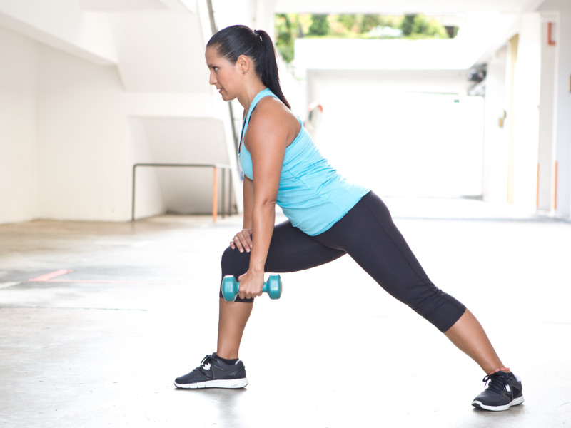 Lower back strengthening exercises such as light aerobics help to create a stronger back as a whole.