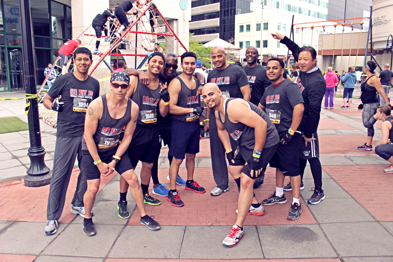 Be Fit JC Men's Fitness City Challenge Race Jersey City May 16 2015 - The guys!
